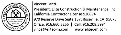 Elite Construction & Maintenance Online Payment